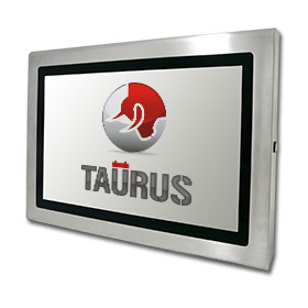 Stainless steel monitor with protection level up to IP67