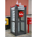 Information terminal out of an old telephone booth