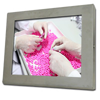 Stainless steel monitor for pharmaceutical manufacturing