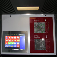 Monitor including vandal proof GFG touchscreen