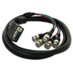Adapterkabel: 15pol. HD D-SUB / 5 x BNC