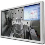 Ansicht vom Arbeitsraum und CNC Steuerung