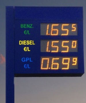 LED Displays Tankstelle